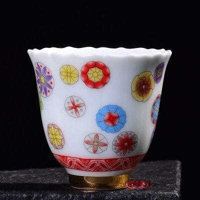 Porcelana de Jingdezhen Kungfu taza de té, cuenco de té de cerámica a todo Color azul y blanco, pequeña taza fresca, té negro Tie Guan Yin Teaware