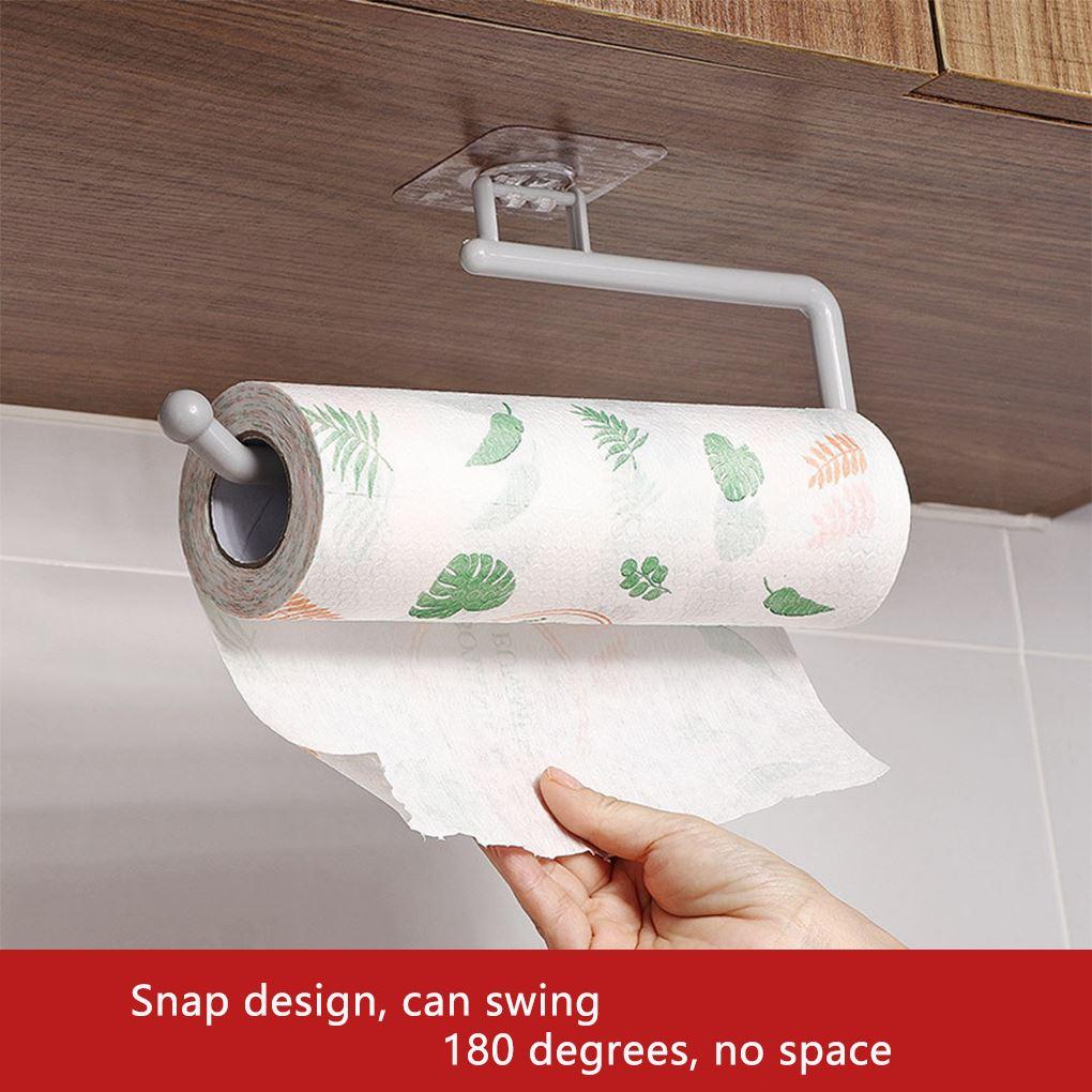AliExpress - Tissue Hanger Paper Roll Holder Wall Mounted Towel Storage Rack for Kitchen Bathroom Storage Hook Bar Cabinet Rag Hanging Holder