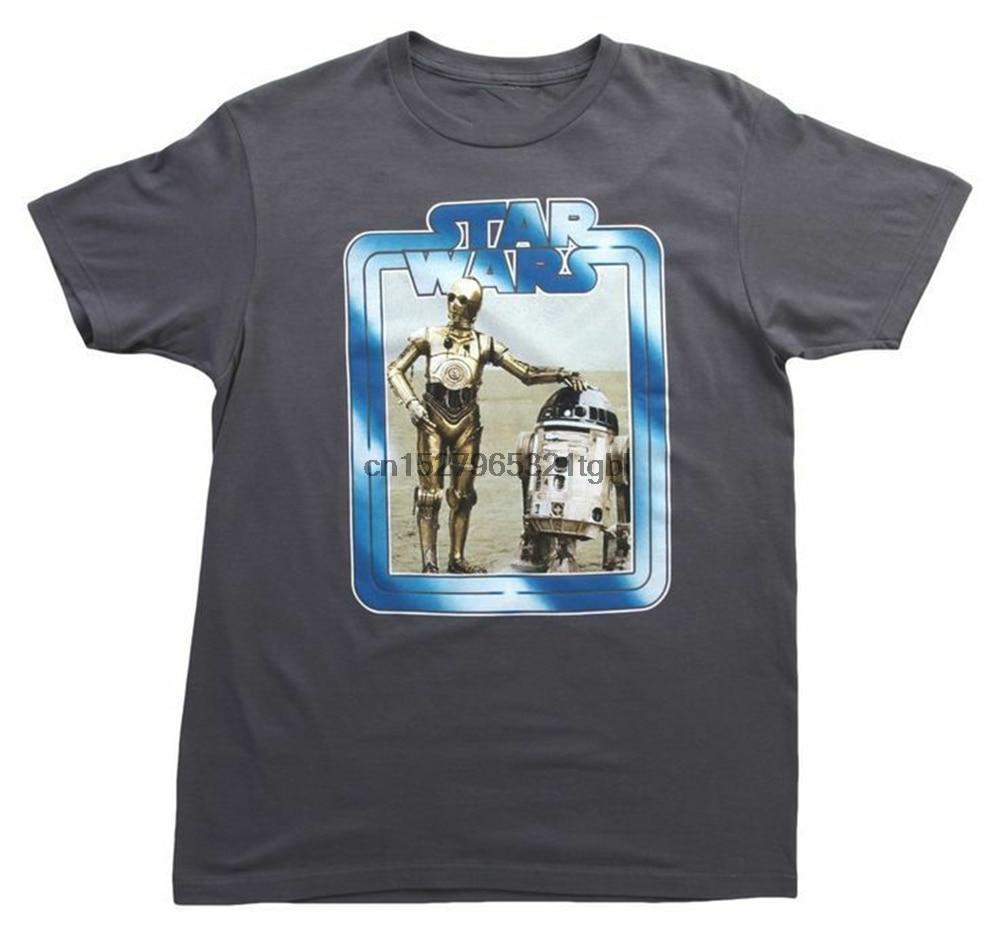 R2D2 C3Po Grenze T-Shirt Kostenloser Versand T-shirt