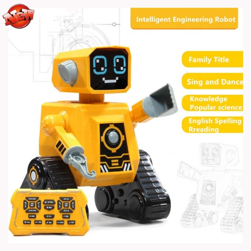 Control remoto juguete educativo inteligente programable ingeniería RC Robot Tot con función de cantar música Robot de Aprendizaje Temprano