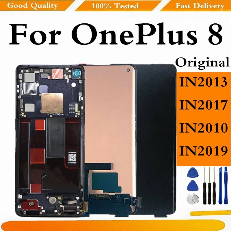 Original For OnePlus 8 LCD Display Touch Screen Digitizer Assembly For OnePlus 8 Display Screen Repl