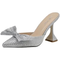 2021 new pointed bow full of diamond baotou wine glass high heel slippers large size 35 41 pumps