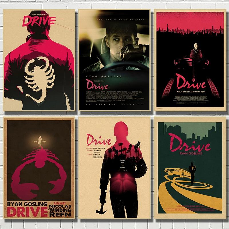 Unidade de filme Ryan Gosling Kraft Papel Poster Home Decor Desenho núcleo adesivos de Parede