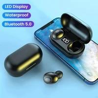 wireless headphones with microphone earpiece bluetooth headset tws earbuds waterproof in ear sport earphones gamer for jogging