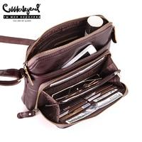 Cobbler Legend женская сумка с несколькими карманами и кармашками, Повседневная через плечо из натуральной кожи , на молнии, дизайнерские винтажны...
