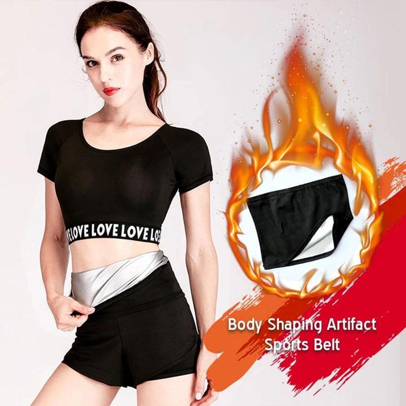 Body Shaping Sports Belt Sweat Slimming Belt Tummy Control Shapewear Fat Burning Waist Trainer Cincher M2