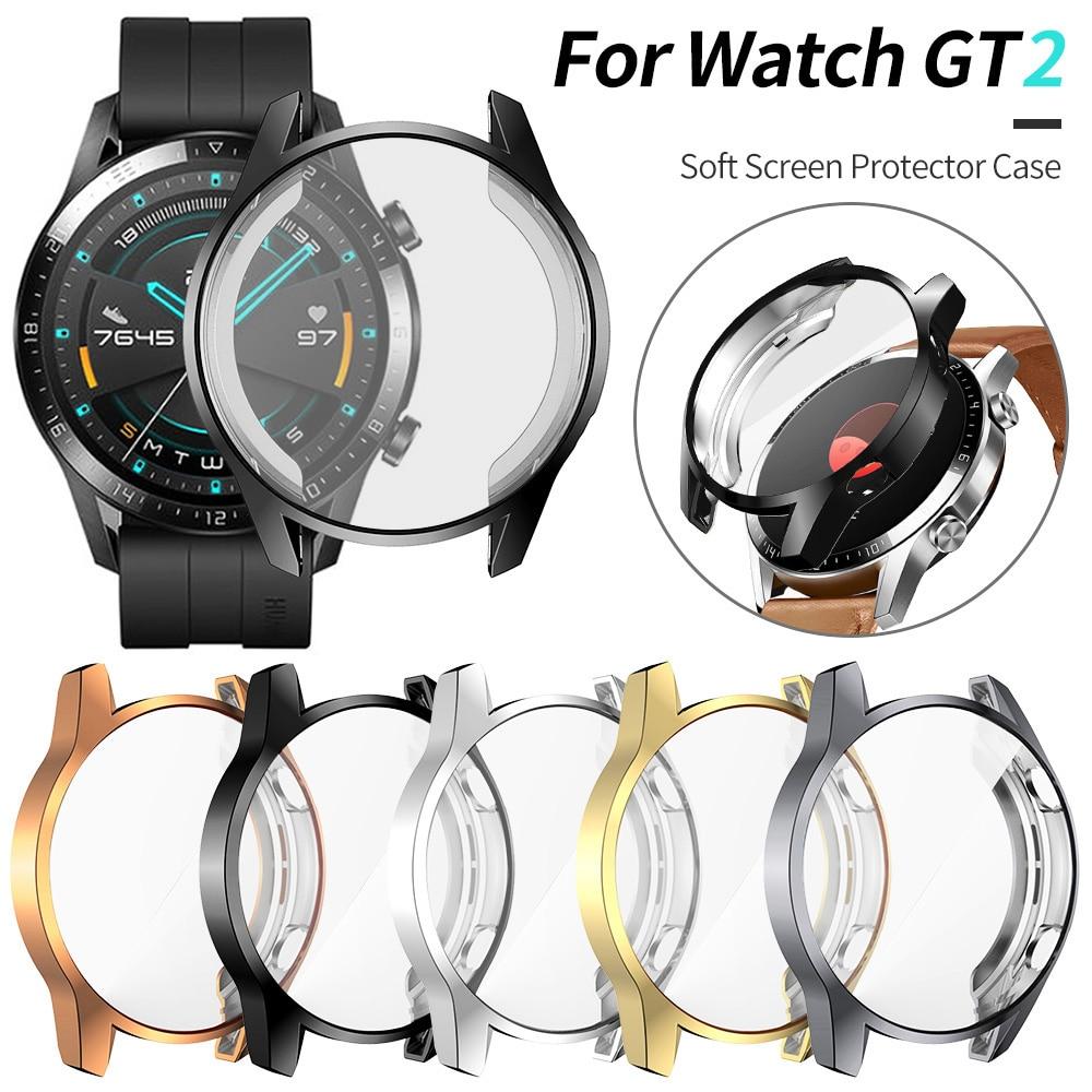 TPU Uhr Schützen Abdeckung Fall für Huawei Uhr GT2 46mm Shell Protector Smart Uhr Zubehör für Huawei GT 2