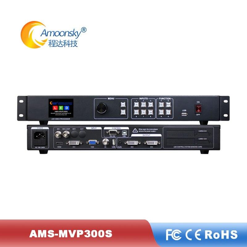 Proveedor de pantalla led utiliza ams-mvp300s controlador de pared de vídeo en comparación con el controlador kystar para pantalla de panel led a todo color interior
