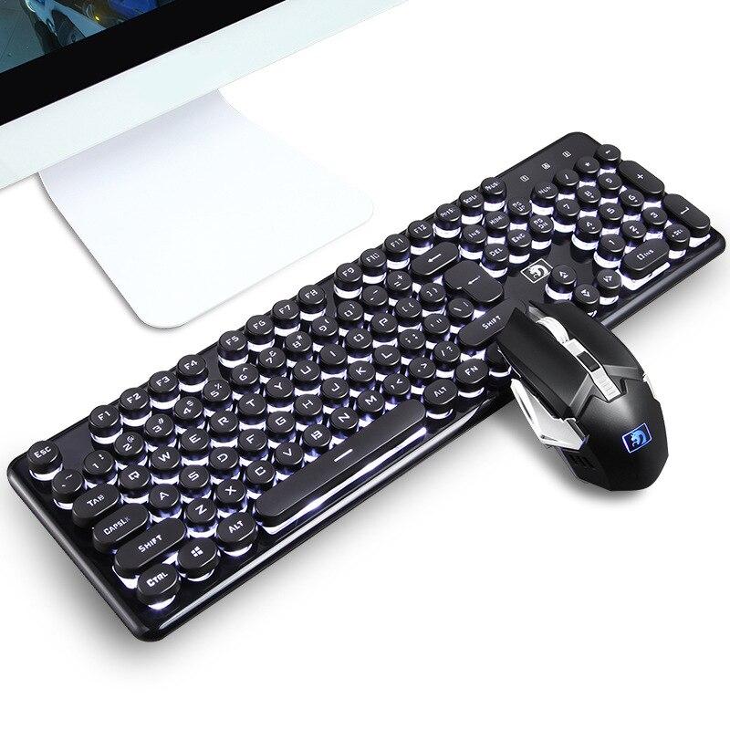 لوحة مفاتيح وماوس ميكانيكية مريحة ومجموعة ألعاب للكمبيوتر الشخصي والكمبيوتر المحمول وماك ، مع إضاءة خلفية قوس قزح ، Usb ، جديد