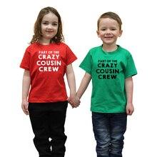 Partie de léquipe de Cousin fou enfants garçons filles noël t-shirt enfants bambin fête haut drôle t-shirts enfant nouvel an t-shirts