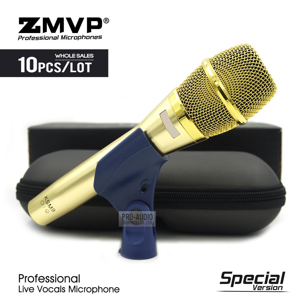 10 Uds., edición especial, vocales profesionales en vivo, KSM9G micrófono dinámico con cable, micrófono Microfono con Podcast supercardioide PARA Karaoke