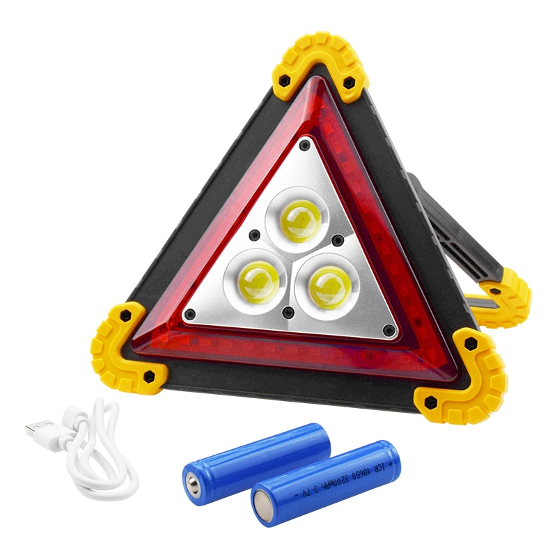 4 Modes Rechargeable Led Emergency Light Warning Hazard Trilight Triangle for Vehicle Breakdown Car