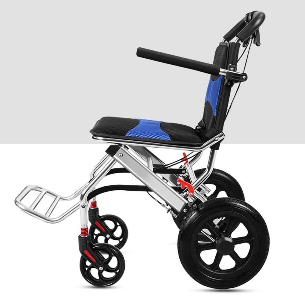 Elderly wheelchair can be folded on the plane light portable travel small children elderly disabled people inflatable walking enlarge