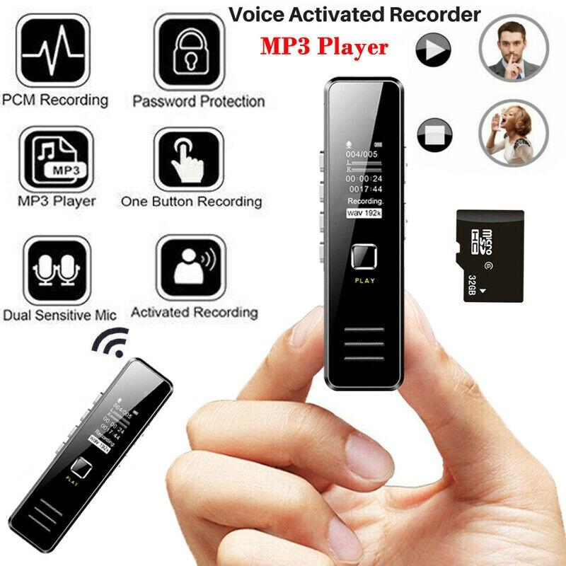 MP3 музыкальный медиаплеер 32 Гб Диктофон перезаряжаемый цифровой аудио mp3-плеер
