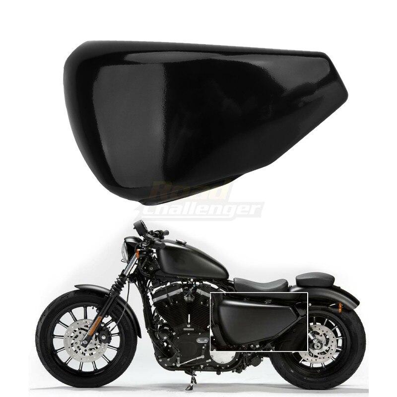 غطاء بطارية أسود للجانب الأيسر للدراجة النارية Harley Sportster XL Iron 883 1200 مخصص ثمانية وأربعون 2004-2013