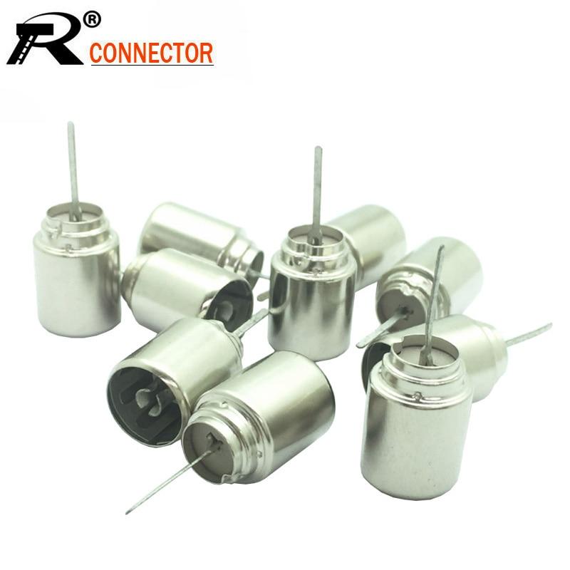 10 unids/lote de conectores de adaptador Coaxial RF hembra de TV de Metal Coaxial DVB-T TV PAL conector hembra de enchufe conector de cable de soldadura
