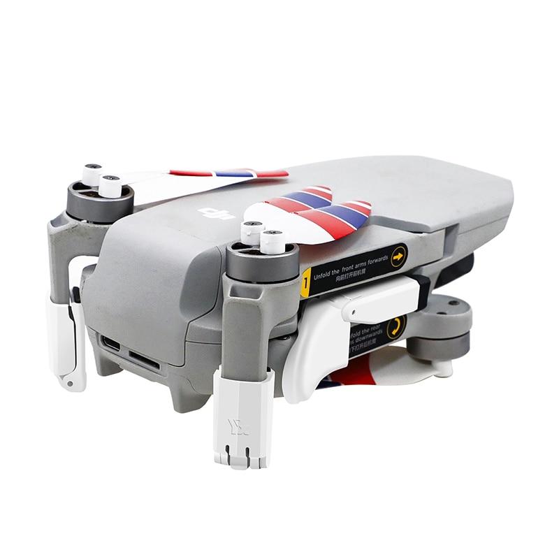 4 pcs landing gear folding shock absorption heighten leg lens gimbal protection for dji mavic mini 2/mavic mini 1 drone enlarge