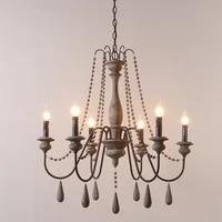 Lustre retro en Bois au design Vintage  luminaire decoratif dinterieur  ideal pour un salon  une chambre a coucher  une cuisine ou un Loft