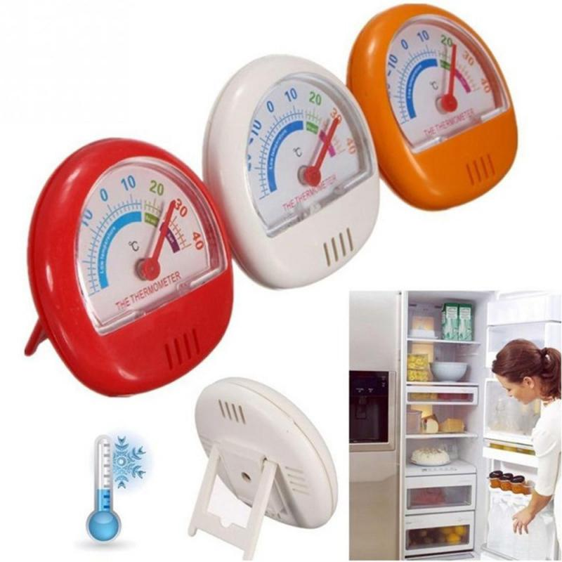 Kitchen Fridge Freezer Dial Thermometer Hanging Hook Or Wall Mounted Household Merchandises