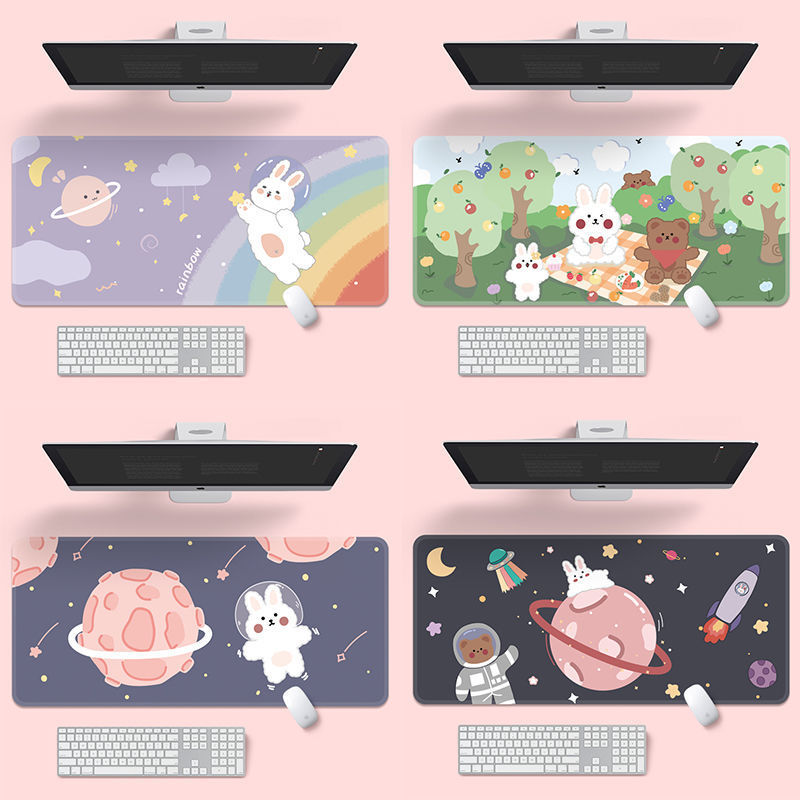 Cute Mouse Pad Oversized Personality Gaming Notebook Anime Office Computer Keyboard Pad  Long Table Mat Easy Clean Game Mousepad