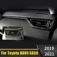 abs plastic car co pilot dashboard panel decoration trim cover sticker for toyota rav4 rav 4 2019 2020 2021 xa50 accessories