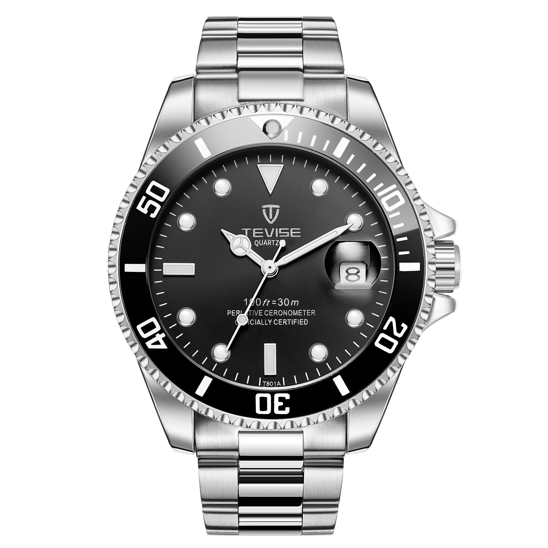 TEVISE New Quartz Sports Men Watch Army Military Mens Wristwatch Fashion Casual Rotating Bezel Male