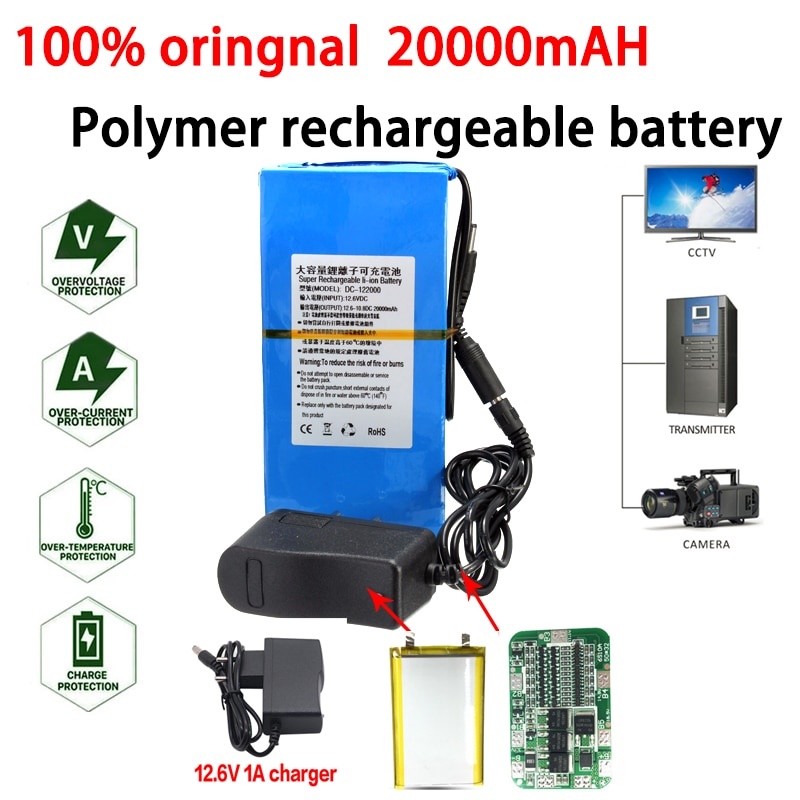 جديد 12 فولت بطارية ليثيوم بوليمر 20000mah لمبة ليد بالطاقة الشمسية رصد المحرك في الهواء الطلق الاستعداد بطارية قابلة للشحن