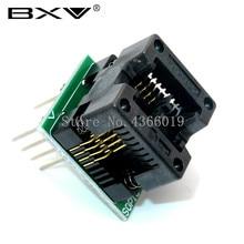 50PCS/lot 150mil SOP8 to DIP8 IC socket Programmer adapter Socket High Quality OTS-16-03 for 24xx 93xx eeprom