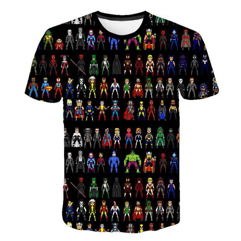 AliExpress - Marvel Kids T-Shirt Print Girls Funny Clothes Boy Clothes Spider-Man Deadpool Tee Costume 2021 Summer Tops Children Baby Tshirts
