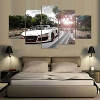 Affiche murale imprimee Hd moderne  5 pieces  sans cadre  voiture de mode  images murales  peinture de pompier  decor de salon