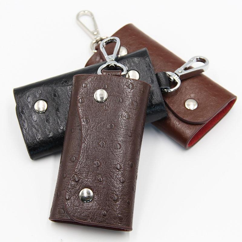 PU Leather Wallet Card Holder Business Organizer Housekeeper Keychain Purses Men Women Portable Pock