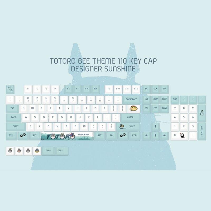 110-مفتاح أنيمي جارتي توتورو Keycap PBT التسامي ارتفاع الكرز الشخصي لتقوم بها بنفسك Keycap لوحة المفاتيح الميكانيكية للتبديل الكرز
