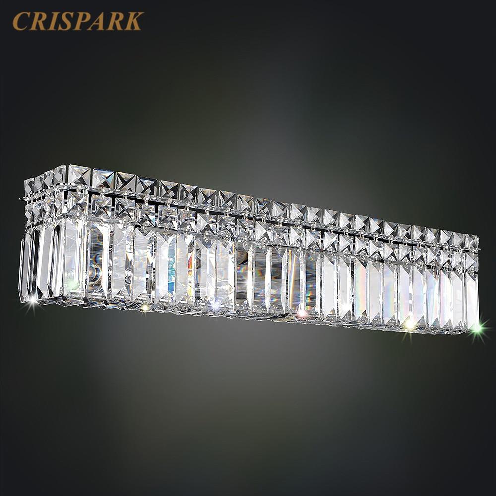 Candelabro LED de pared Vanita, accesorio de luz de baño Rectangular, Prisma...