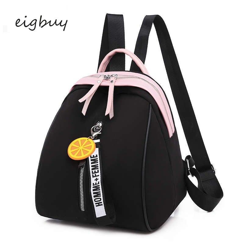 Mochila japonesa para mujer, mochila informal de diseño clásico para estudiantes, mochilas escolares de moda negras para adolescentes, mochila escolar para Dos