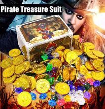 Crianças pirata série joga projetos, caixa de moedas brinquedos casa jogos, acrílico pedra preciosa cognição de moedas, chip de jogo