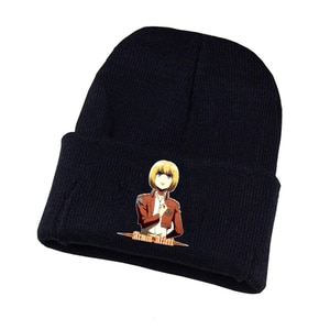 Anime Attack on Titan Knitted Hat Cosplay Hat Unisex Print Adult Casual Cotton Hat Teenagers Winter Knitted Cap