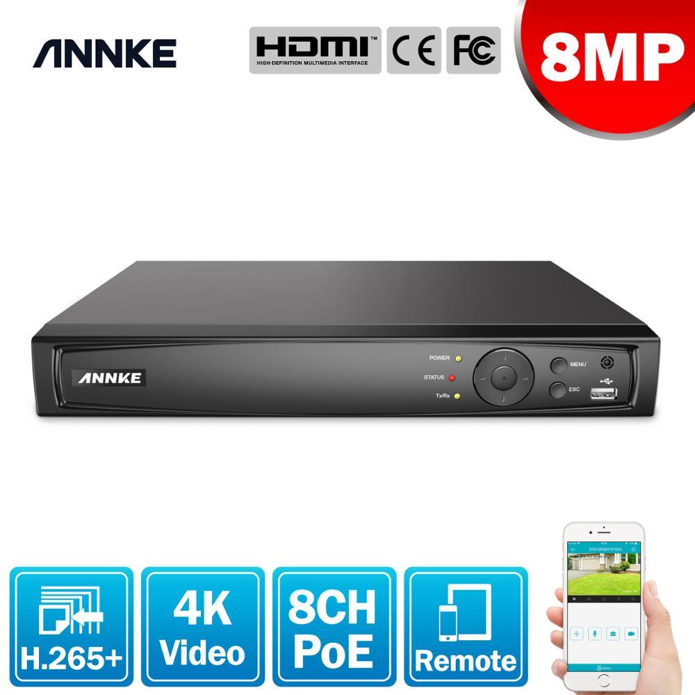 Anke 4K POE مسجل فيديو 8CH 8MP H.265 NVR ل HD POE 2MP 4MP 5MP 8MP IP POE كاميرا مراقبة فيديو الأمن كشف الحركة