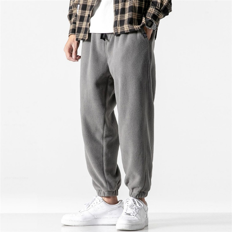 New Loose Jogging Pants Men 2020 New Fashion Fleece Autumn Winter Warm Sweatpants Male Outdoor Straight Trousers Pantalon Hommes