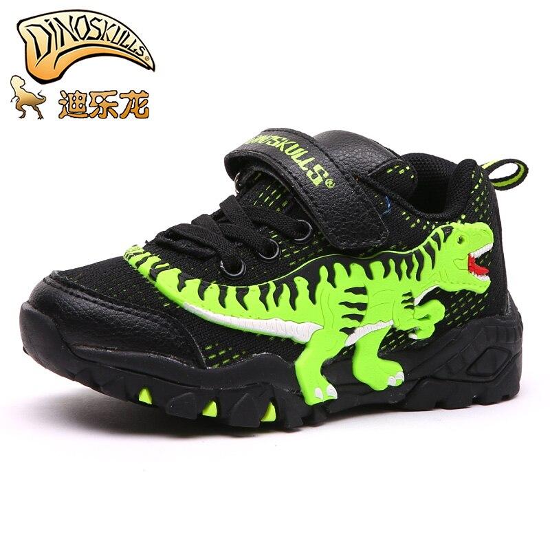 Zapatos Infantiles de dinosaurios para niños, zapatillas deportivas T-REX de primavera para correr, zapatillas transpirables de malla de aire para niños pequeños