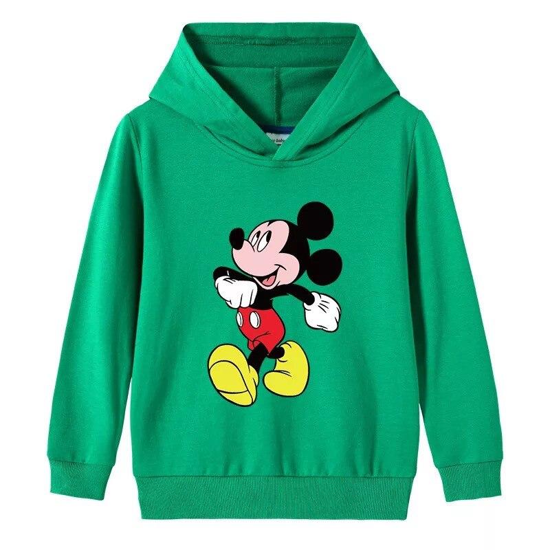 Дисней «Микки Маус» для маленьких девочек и мальчиков с капюшоном; Толстовки с рисунком; Сезон весна осень; Новые куртки с капюшоном пуловер Детские топы, одежда|Толстовки и кофты| | АлиЭкспресс