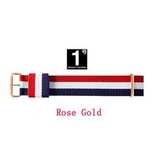 Meilleure marque JH qualité 18mm 20mm or rose argent amoureux hommes femmes dw nylon bracelet de montre pour daniel wellington bracelet de montre pour cadeau