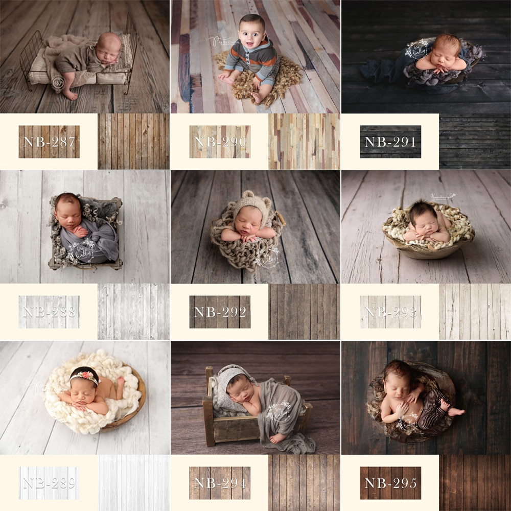 Newborn Backdrop For Photography Baby Shower Birthday Party Wood Floor Photo Background For Children Portrait Backdrops Studio enlarge
