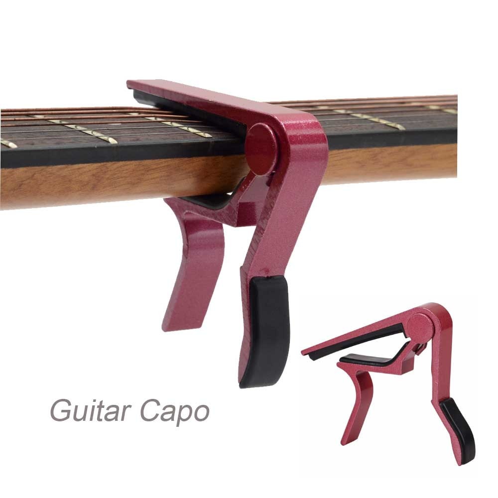 Metal Guitar Capo Accessories Universal Parts Aluminium Alloy Acoustic Classic Adjust Capo Quick Change Clamp Key  for Guitar