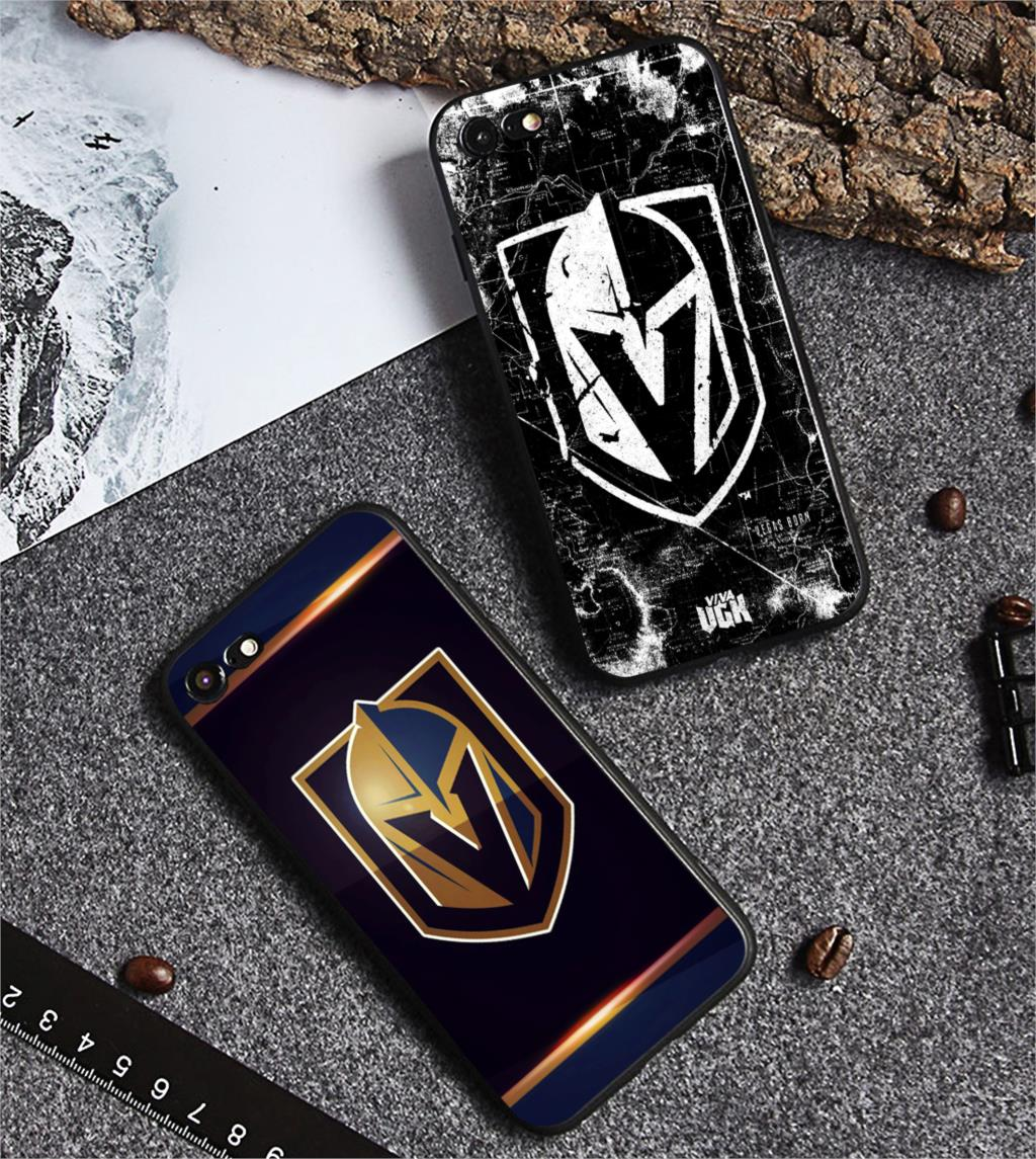 Vegas knights ouro telefone caso moda novo silicone preto tpu capa macia para iphone 11 pro max 6s 7 8plus 5S 5 x xs xr xsmax