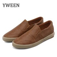 yween men shoes spring summer pu leather shoes men lace up white style light breathable fashion sneakers men vulcanized shoes