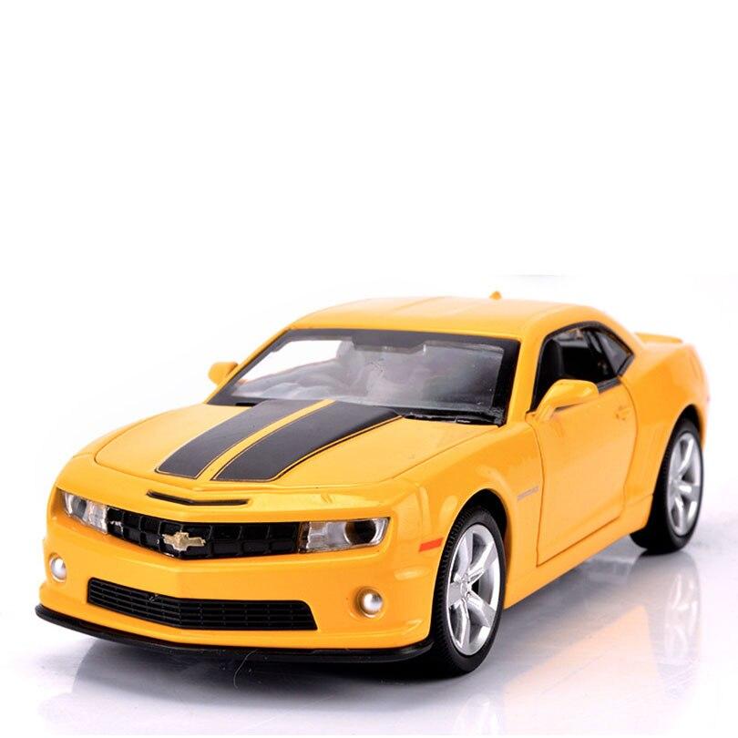 1/32 camaro carro de brinquedo modelo liga puxar para trás crianças brinquedo genuíno coleção licença presente simulação fora-estrada veículo crianças ornamento
