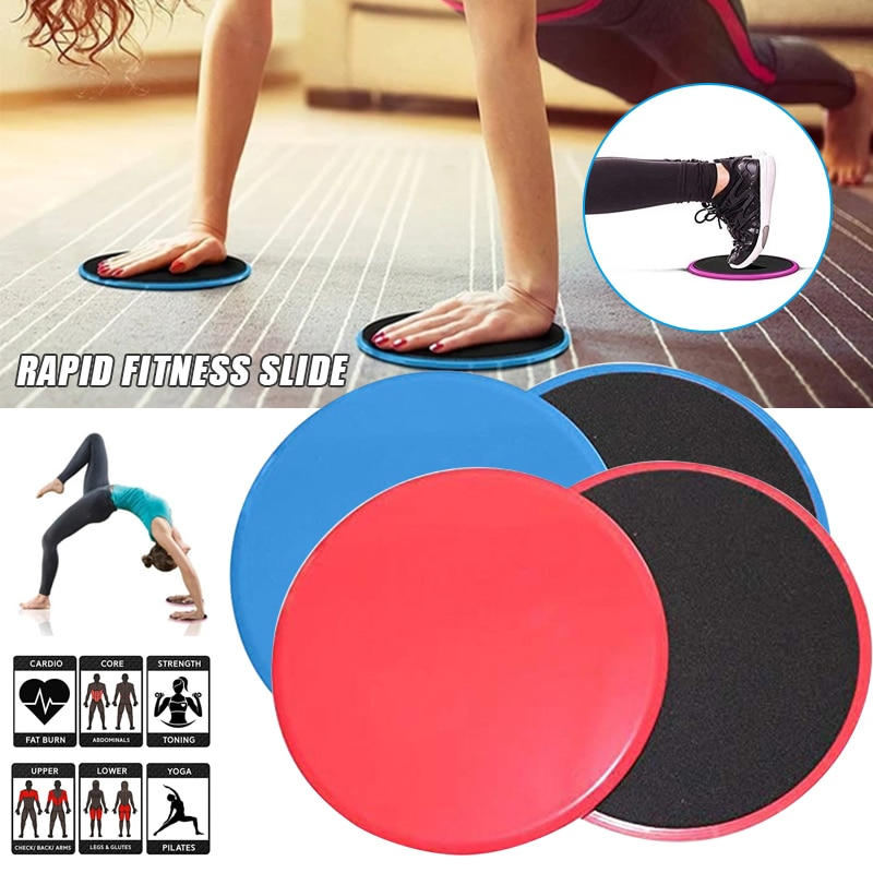 2 Pcs Multifunctional Sliding Fitness Disk Core Sliders Gliders Support for Carpet Hardwood Yoga Health99