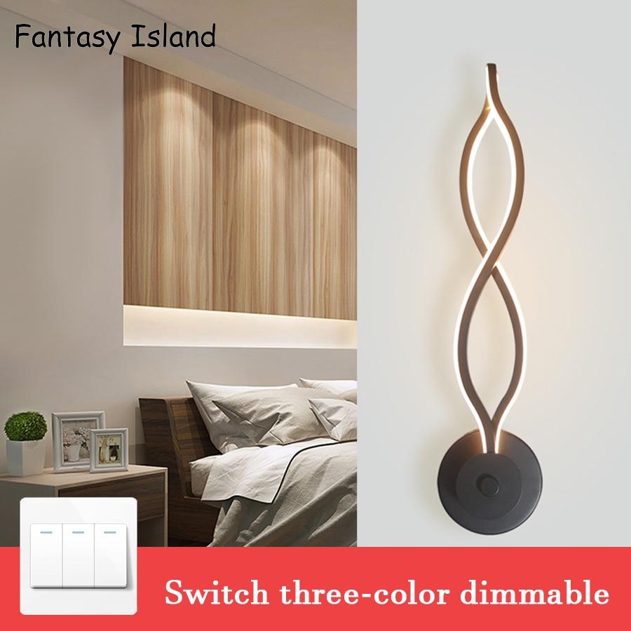 Luces de pared LED para dormitorio de estilo nórdico, accesorios de iluminación para pared de salón, apliques de interior, luces de pared, led de pared, decoración de luces