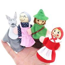 Küçük kırmızı başlıklı kız ve kurt peri parmak kuklası peluş oyuncaklar çocuk bebek iyilik bebek söyle Storys sahne erkek kız parmak kuklası