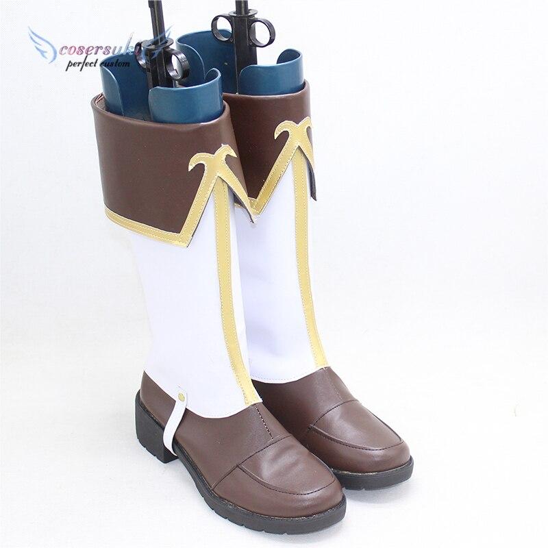 ¡Princesa conectar! ¡Re Pecorine bucear/Eustiana von Astraea, zapatos de Cosplay, botas profesionales hechas a mano! ¡Personalización perfecta para usted!